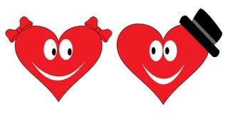 Förälskade hjärtor Arkivfoto