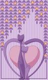 Förälskade katter Arkivbild