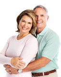 Förälskade lyckliga höga par. royaltyfria bilder