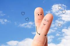Förälskade lyckliga par Royaltyfri Bild
