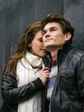 Förälskade lyckliga par Arkivfoton