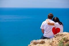 Förälskade man och kvinna Fotografering för Bildbyråer