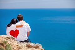 Förälskade man och kvinna Arkivfoto