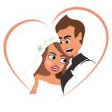 Förälskade nygift person royaltyfri illustrationer
