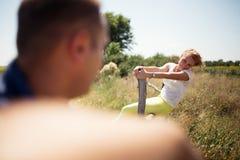 Förälskade par, Fotografering för Bildbyråer