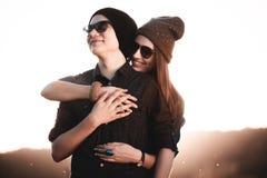Förälskade par för barnmodeHipster Royaltyfri Bild