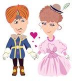 Förälskade prins och prinsessa Royaltyfri Fotografi