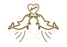 Förälskade repdelfin Royaltyfria Foton