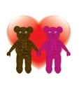 Förälskade små björnar Royaltyfri Bild