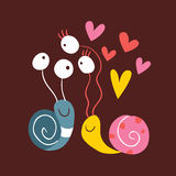 Förälskade Snails Royaltyfri Bild