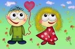 Förälskade trevliga par Folk för dag för valentin` s förälskat romantiskt Royaltyfria Bilder