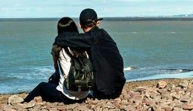Förälskat se havet Fotografering för Bildbyråer