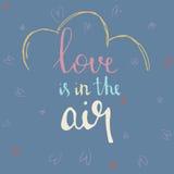 Förälskelse är i drog vektorillustrationen för luft handen Royaltyfria Bilder