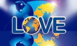 förälskelse återanvänder världen vektor illustrationer