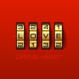 Förälskelse öppnar hjärta Arkivfoto