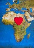 Förälskelse av Afrika Arkivbilder