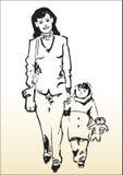 Förälskelse av en moder Arkivbilder