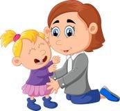 Förälskelse av en moder och en dotter vektor illustrationer