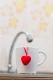 Förälskelse av koppen Fotografering för Bildbyråer