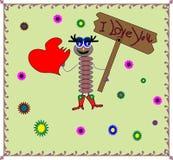 förälskelse avmaskar vektor illustrationer