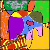 Förälskelse Elefant royaltyfri illustrationer