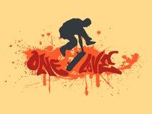 förälskelse en som skateboarding stock illustrationer