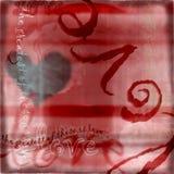 förälskelse för 2 hjärta royaltyfri illustrationer