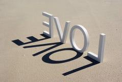 förälskelse för 2 strand Fotografering för Bildbyråer