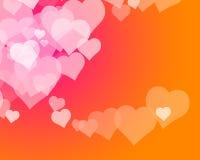 förälskelse för 5 hjärtor stock illustrationer
