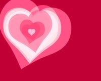 förälskelse för 6 hjärtor vektor illustrationer