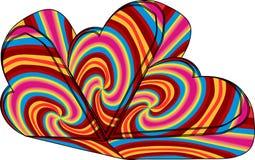 förälskelse för hjärta 3d royaltyfri illustrationer