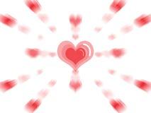 förälskelse för hjärta för askexplosiongåva Royaltyfri Bild