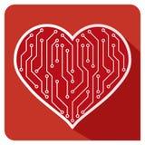 Förälskelse för hjärtasymbolsPCB Arkivfoton