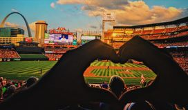 FÖRÄLSKELSE för huvudsaklig baseball royaltyfri bild