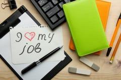 Förälskelse för ` I min jobb`, Arkivbild