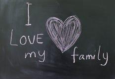 Förälskelse för inskrift I min familj Royaltyfria Foton