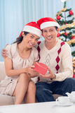 Förälskelse för jul royaltyfri foto