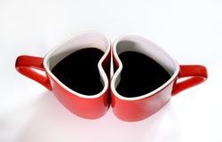 Förälskelse för kaffekopp Fotografering för Bildbyråer