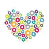 Förälskelse för kreativitet och teamwork Royaltyfri Illustrationer