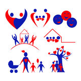 förälskelse för logo för symboler för barnsamlingsfamilj Royaltyfria Bilder