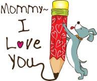 Förälskelse för mamma I dig Arkivbild