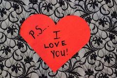 Förälskelse för PS I dig Arkivfoto