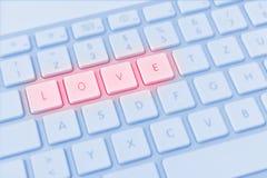Förälskelse för stavning för datortangentbord Royaltyfri Foto