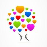 Förälskelse för symbol för hjärta för träd för logoaffärsabstrakt begrepp Royaltyfri Bild