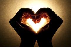 förälskelse gömma i handflatan Royaltyfri Fotografi