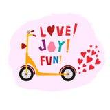 Förälskelse! Glädje! Gyckel! affisch Arkivbilder