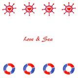 Förälskelse & hav 2 Royaltyfri Foto