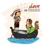 Förälskelse i Venedig Royaltyfri Bild