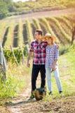 Förälskelse i vingård Royaltyfri Bild