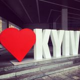 Förälskelse Kiev Arkivfoton